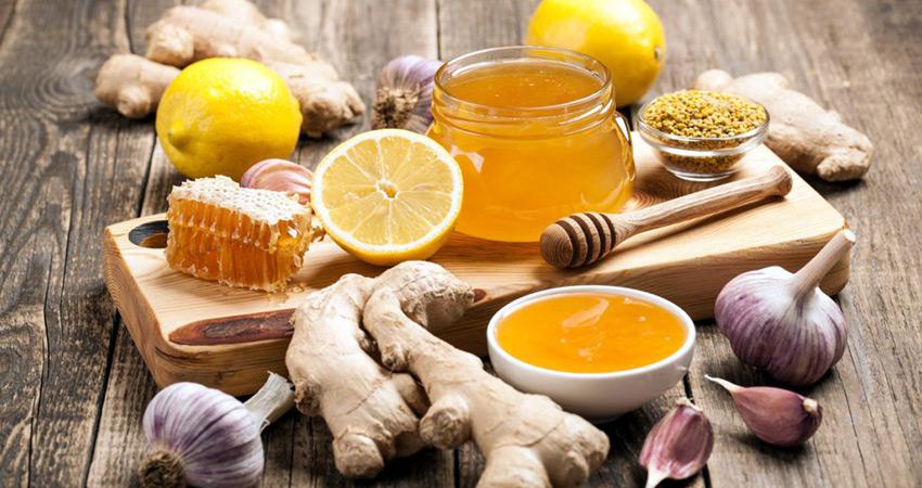 Мед, чеснок, лимон и имбирь